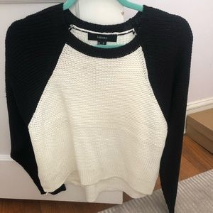 Forever 21 black & white sweater